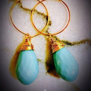 Mint gold earrings